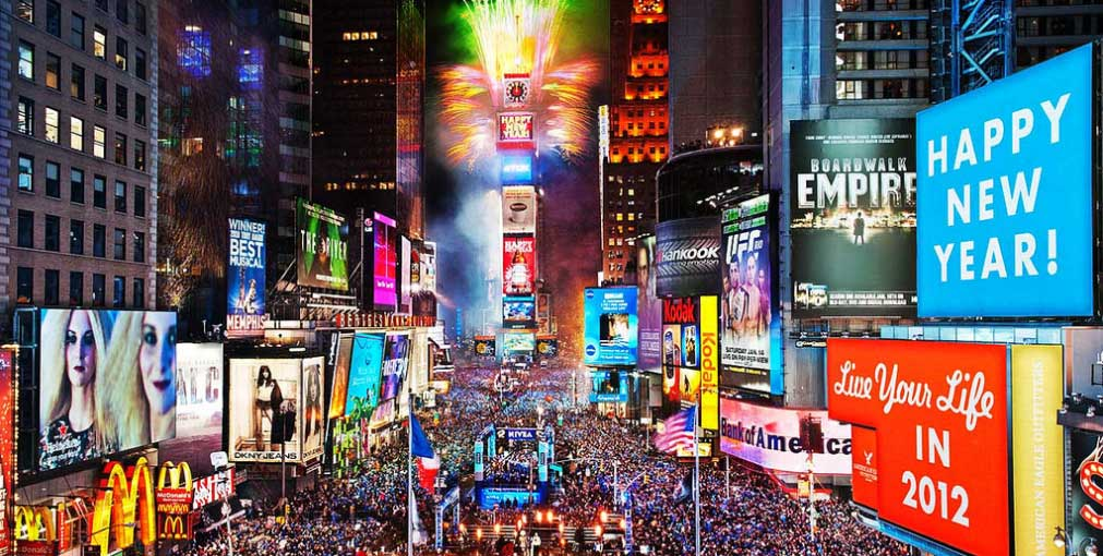 nouvel an times square new york
