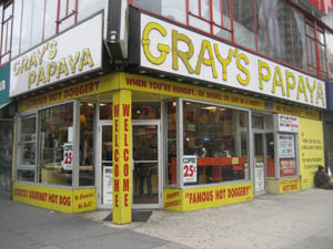 gray's papaya hot dogs new york