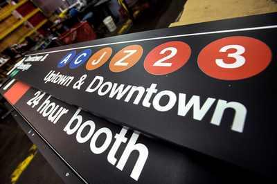 panneau metro new york